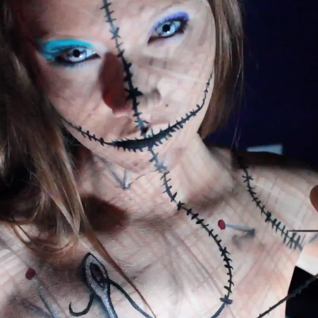 Be a Human Pincushion for Halloween: DIY Voodoo Doll Costume & Makeup