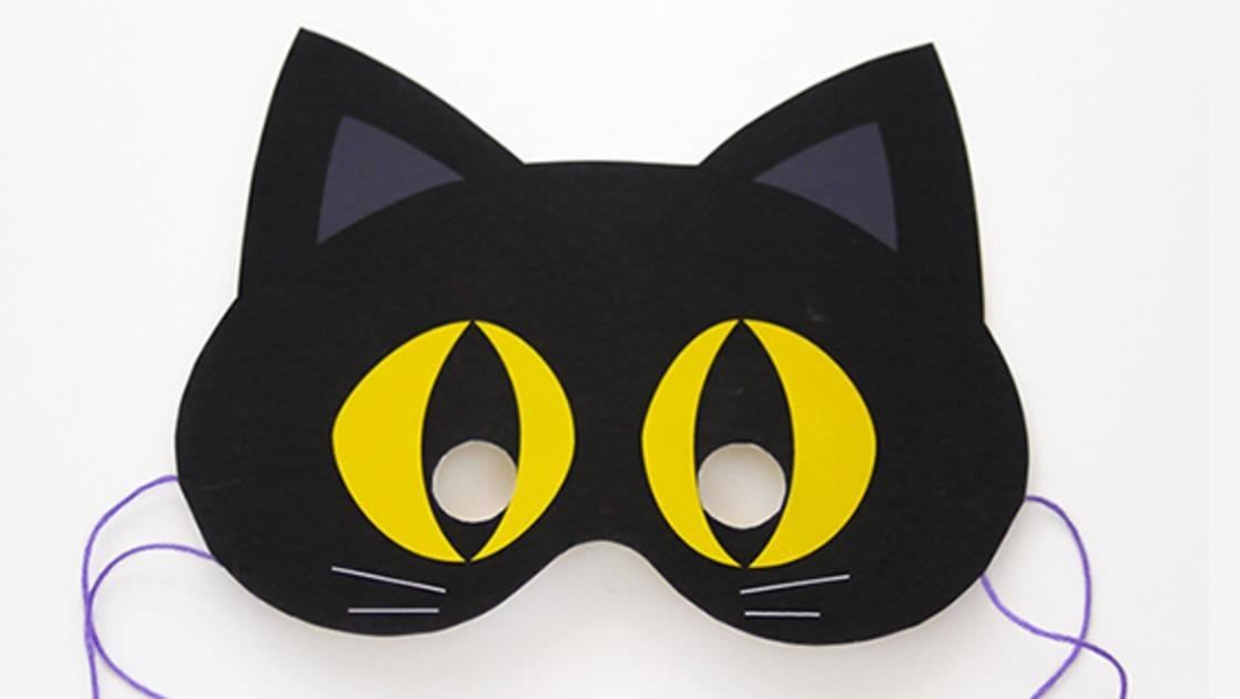 Clean image for printable cat mask