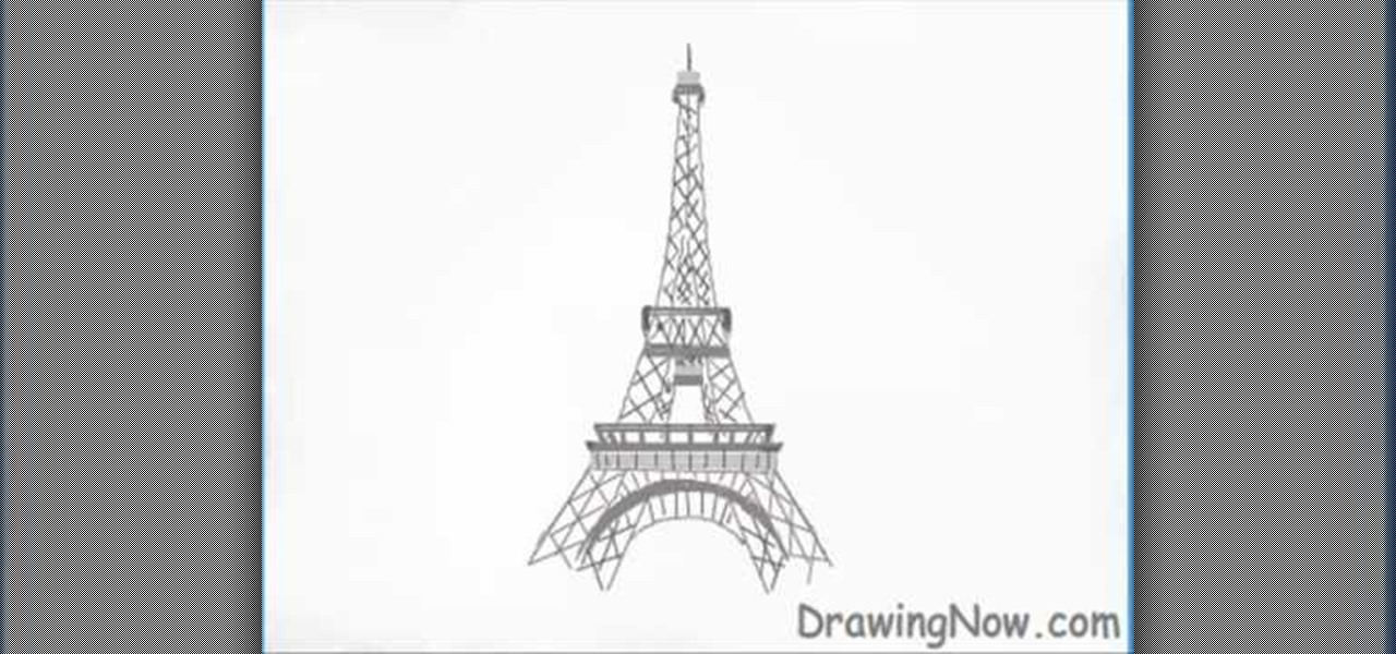 Eiffel Tower Technical Drawings How to Draw The Eiffel Tower