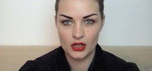 Get the strong brows & red lips classic makeup look