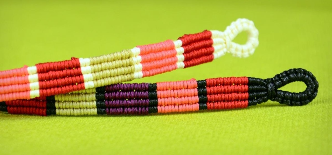 Make Colored Stripe Bracelet