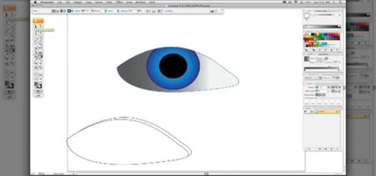 How to draw a realistic eye in illustrator adobe illustrator wonderhowto
