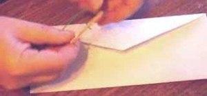 Make a prank envelope using rattlesnake eggs