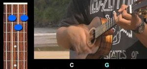 "Play ""Guava Jelly"" by Bob Marley on the ukulele"