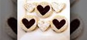Make raspberry filled, nut free Linzer cookies