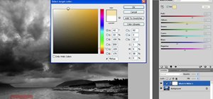 Create a black and white image in Photoshop CS4