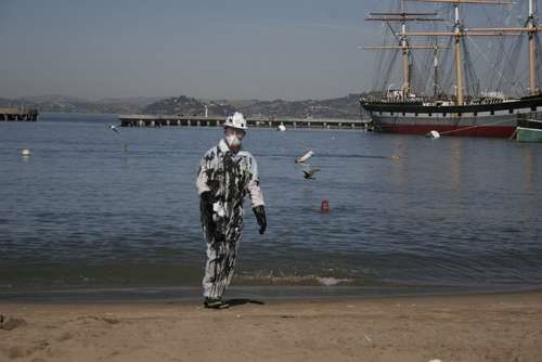 HowTo: BP Oil Spill Clean Up Halloween Costume