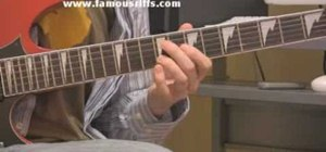 "Play ""Thunderstruck"" by AC/DC on electric guitar"