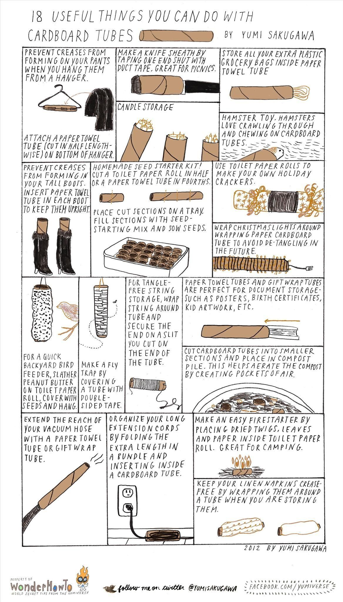 18 useful things you can do with cardboard tubes the for How to make useful things from paper