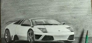 Draw an expensive 2-door Lamborghini Gallardo sports car