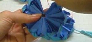 Origami a frog-lily base kusudama ornament