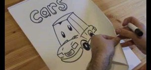 Draw cartoon cars