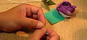 Origami a rose leaf