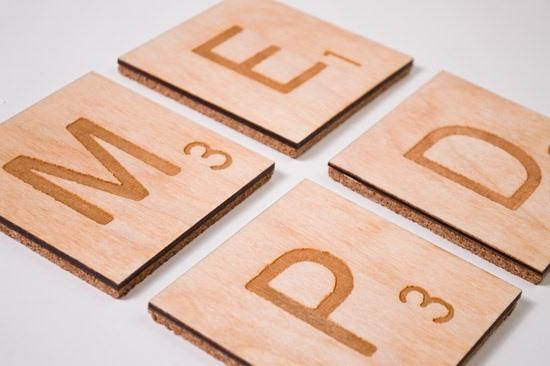 RasterWeb! Scrabble Coasters