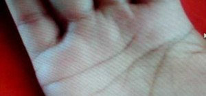 Interpret broken lines on your subject's hand when giving a palm reading