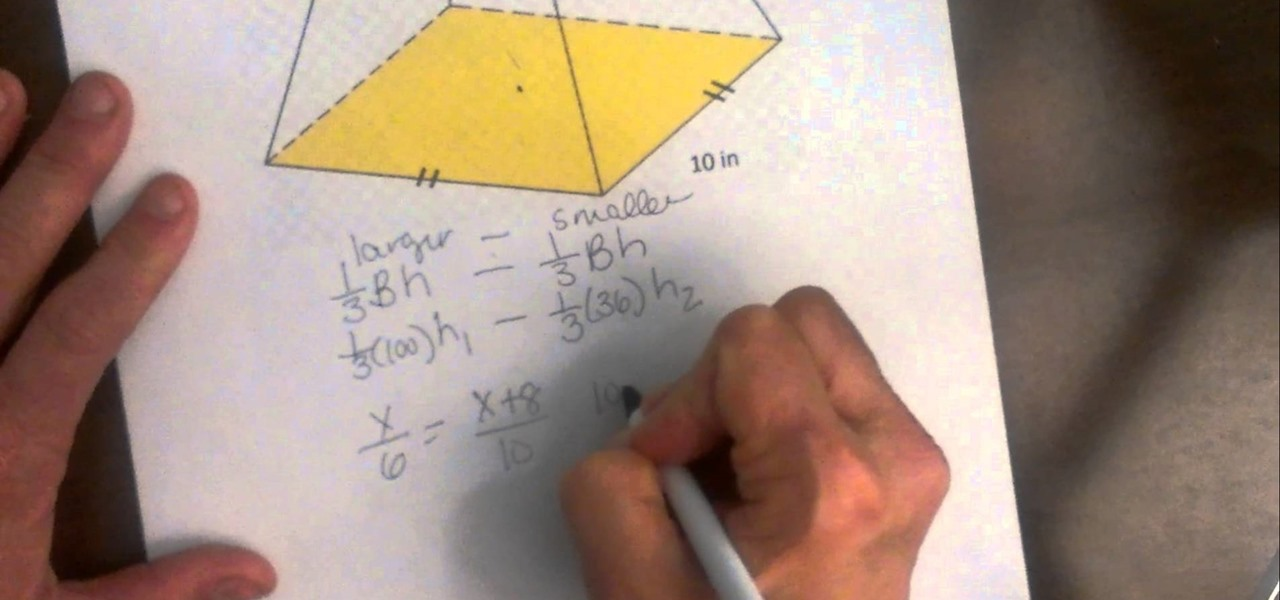 Find the Volume of a Truncated Pyramid.