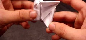 Make an origami ninja star (shuriken) out of paper