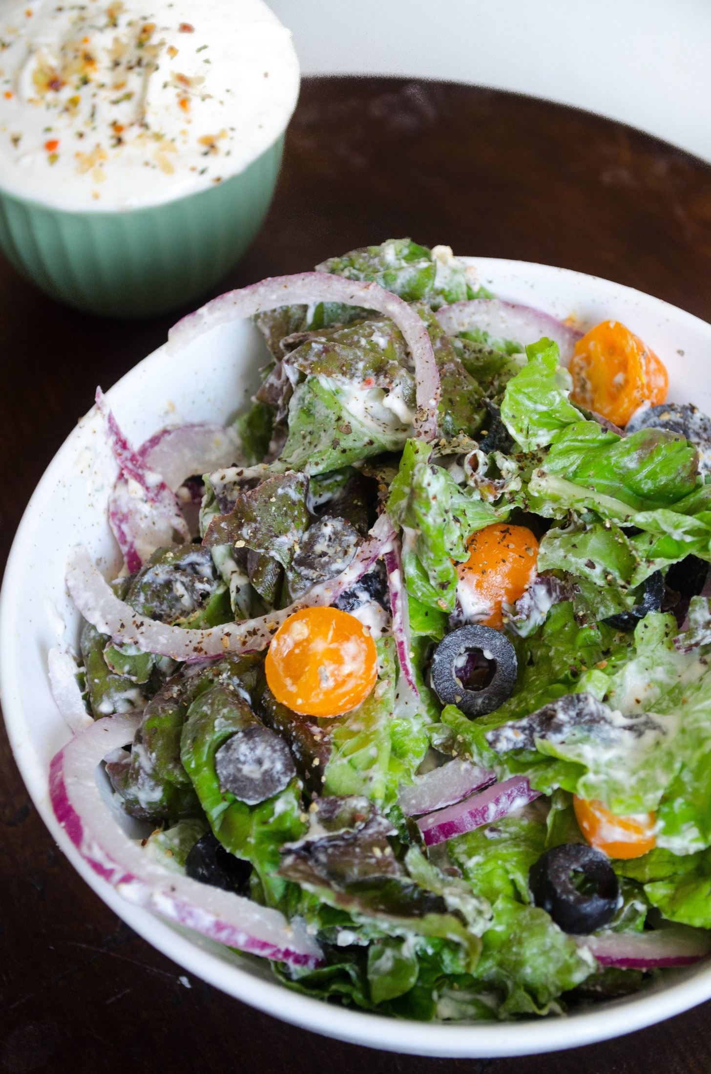 Make Light but Rich Salad Dressings by Whipping Them