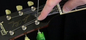 String an Electric Guitar