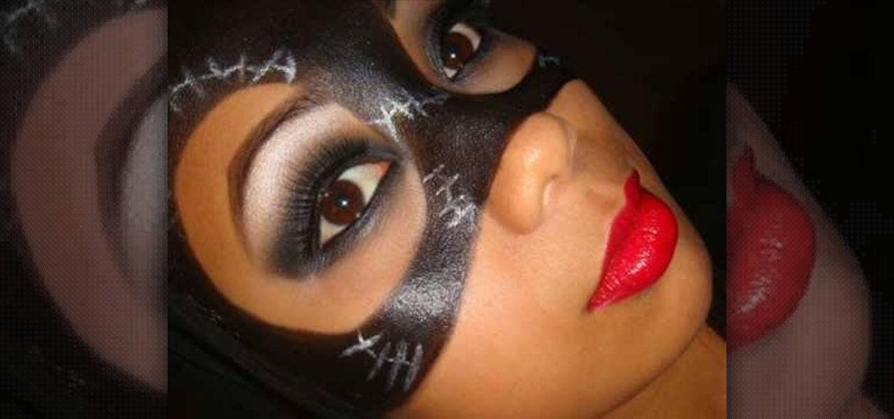 How to Apply a Catwoman Mask with makeup for Halloween « Makeup ...