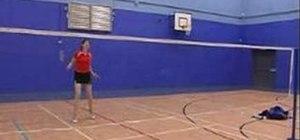 Play deceptive around the head stop/slow drop shots in badminton