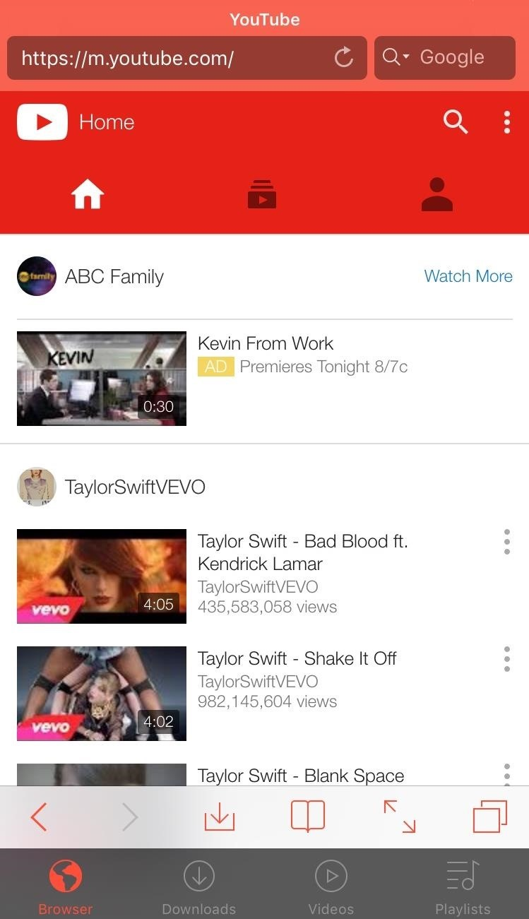Youtube for mobile - means having millions of videos right in your pocket