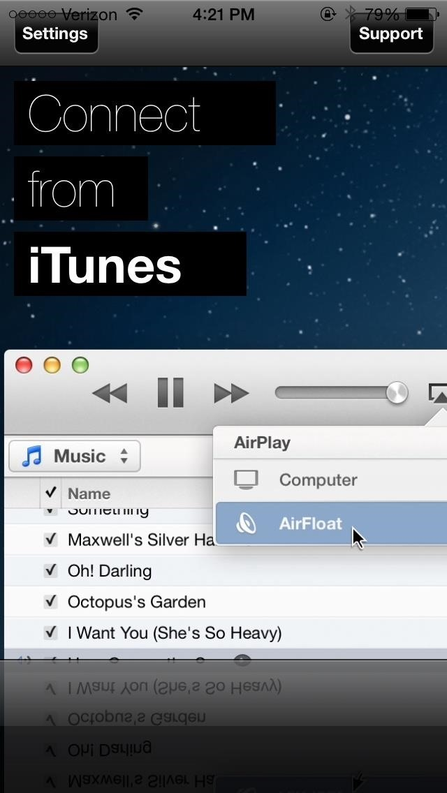 how to connect iphone to airplay