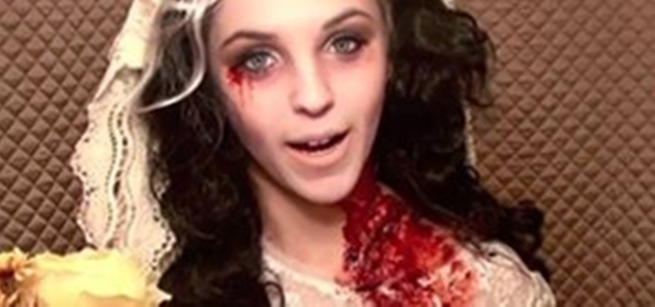 Apply Makeup to Look Like a Zombie Bride
