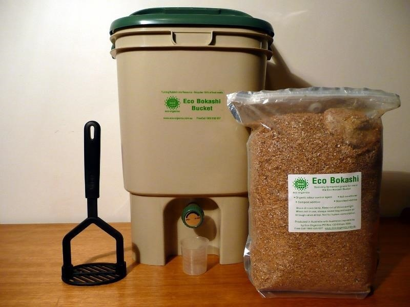 Bokashi Bin Microbial Bran And Tool Image Via Pfctdayelise