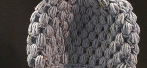 Crochet a puff stitch hat