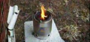 Make a wood gas stove