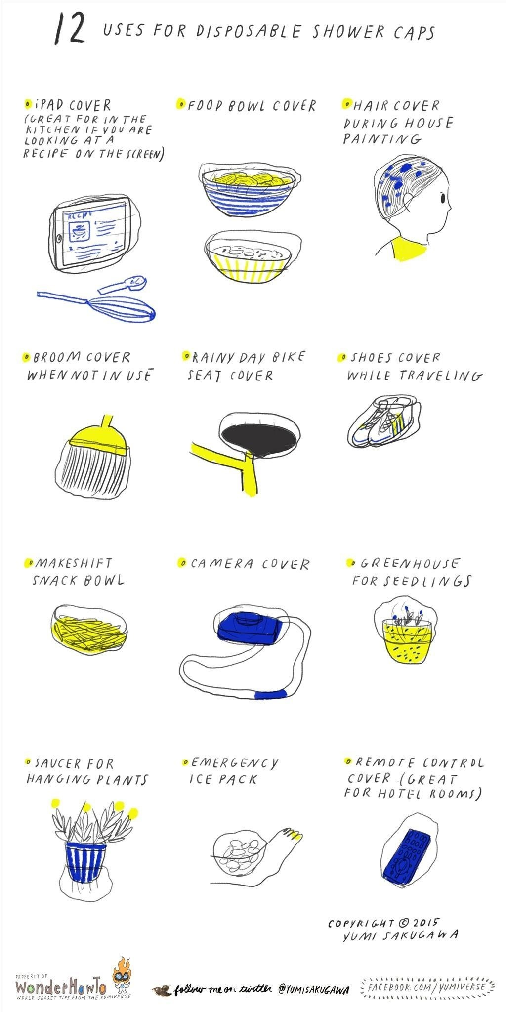 12 Non-Shower Uses for Disposable Shower Caps
