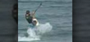 Do a back roll while kiteboarding