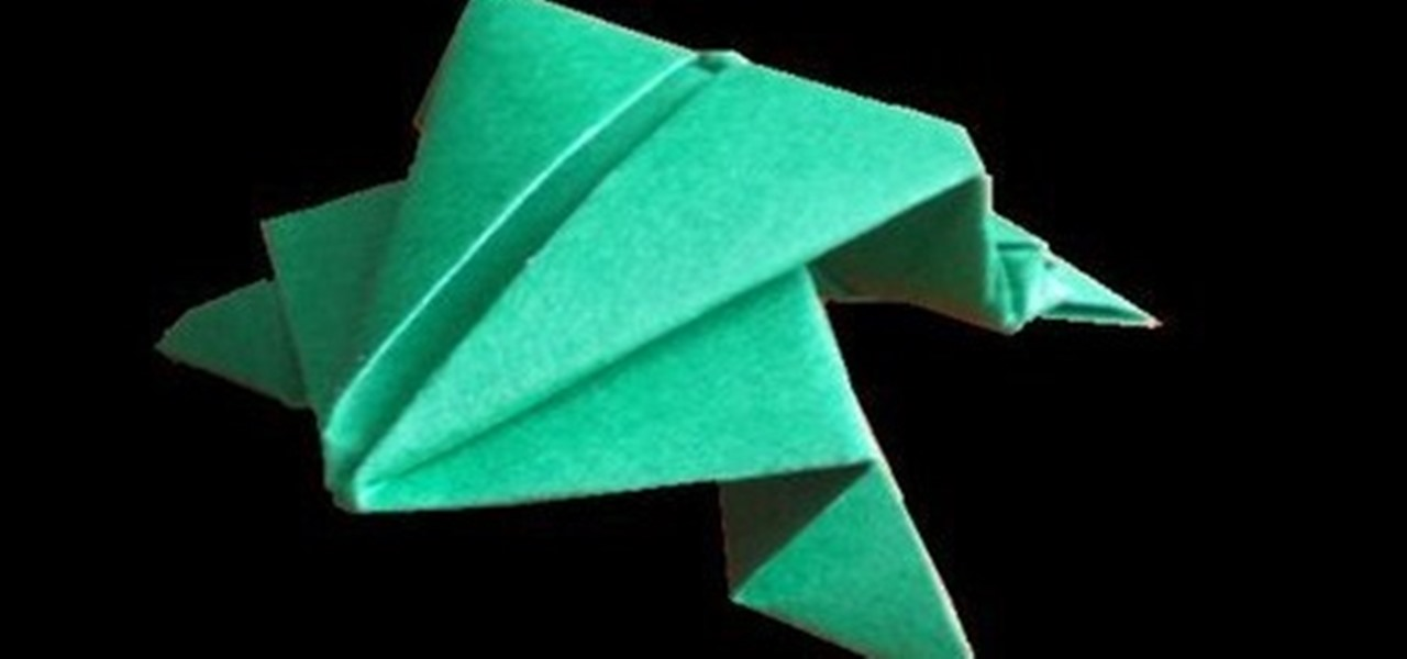 How To Make A Jumping Frog From Paper With Origami