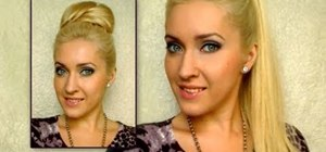 Use hair extensions to give yourself a high ponytail updo hairstyle