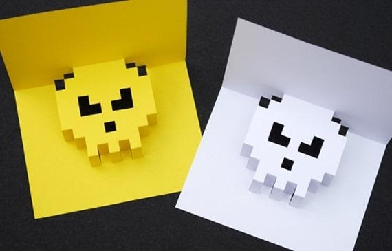 Forget Hallmark—Save Money by Making These Awesome Popup Pixel Christmas Cards