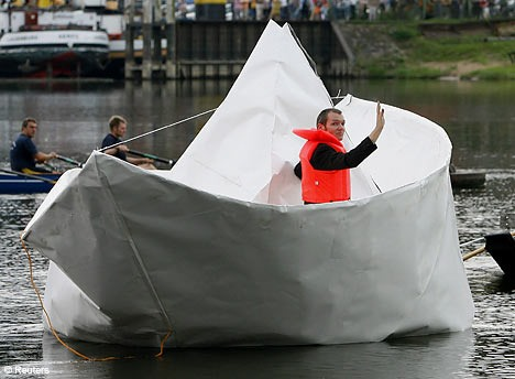 Larger Than Life Origami Boat