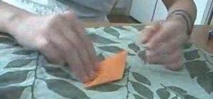 Quickly fold a paper crane