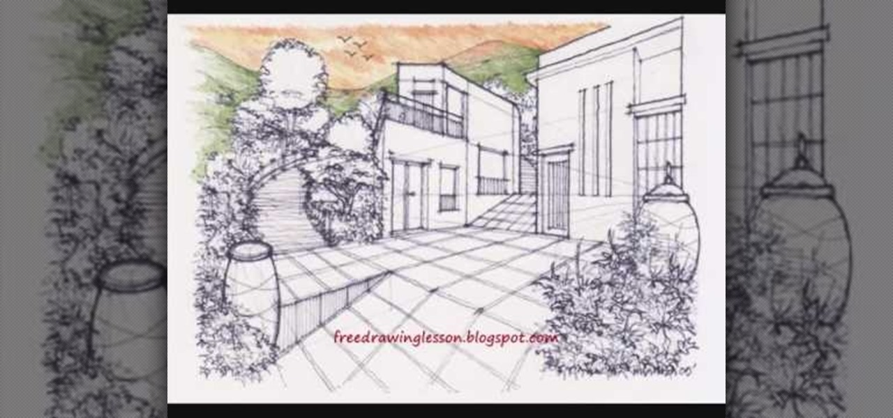 How to draw and color landscape scenery drawing illustration wonderhowto