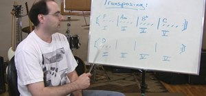 Transpose triad chord progressions