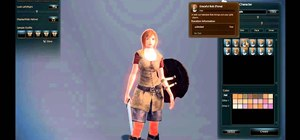 Create a male character in the online game Vindictus