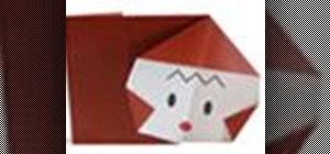 Origami a monkey Japanese style