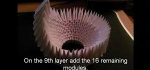 Fold a modular origami peacock