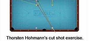 Perform a cut shot exercise