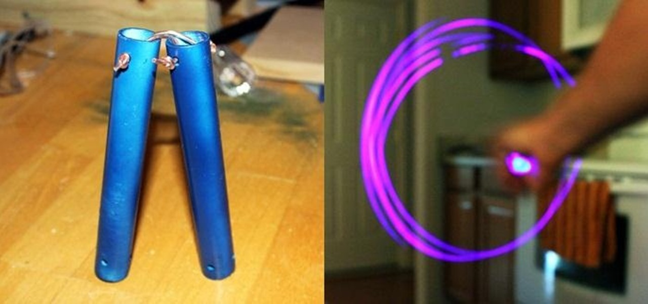 Vanquish Enemies and Light Paint Simultaneously with These Simple DIY Illuminated Nunchuks!