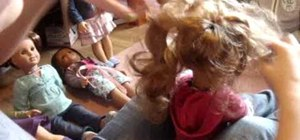 Do an adorable hairstyle on your American Girl doll