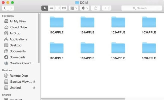 how to open iphones photo folder