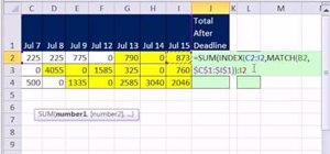 Sum values after a deadline in Microsoft Excel 2010