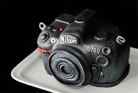 Fondant Facsimile of a Nikon Camera