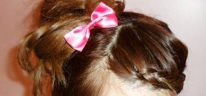 Create a Lolita easy braided updo with bow